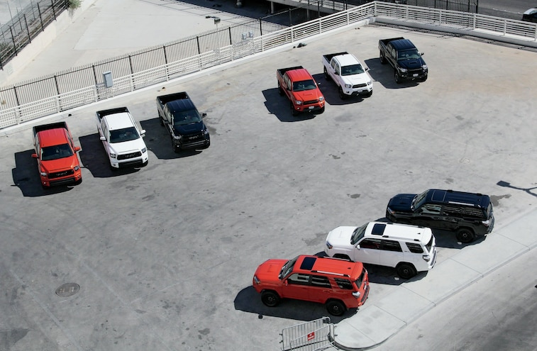2015 Toyota Models Top View