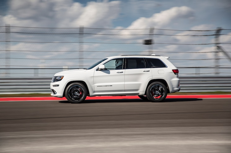 2015 Jeep Grand Cherokee SRT Side In Motion
