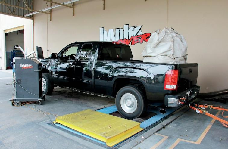 2009 GMC Sierra 2500HD Gale Banks Big Hoss Bundle Package Install Rear View