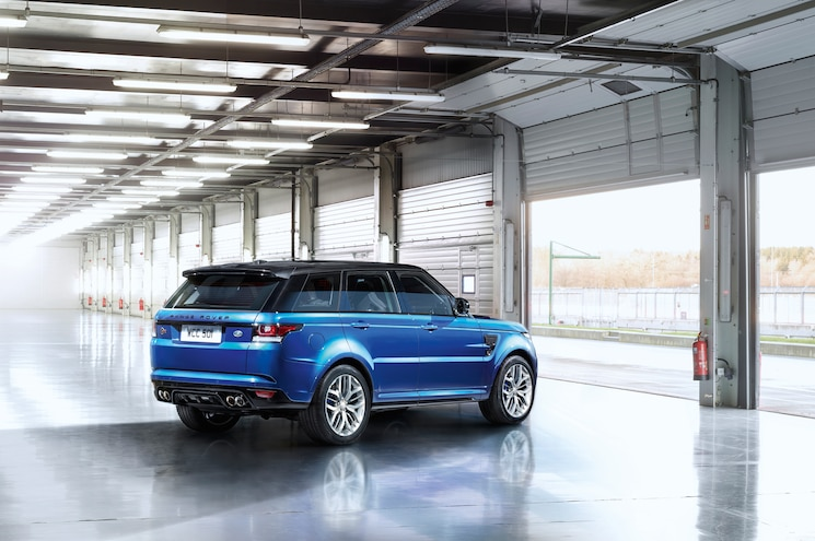 2015 Land Rover Range Rover Sport SVR Rear Three Quarter