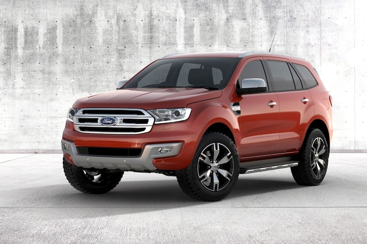 2016 Ford Everest Exterior Front Three Quarter Concrete