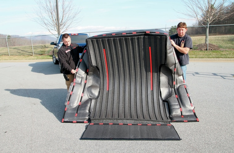 Velcro Pieces Bed Attached