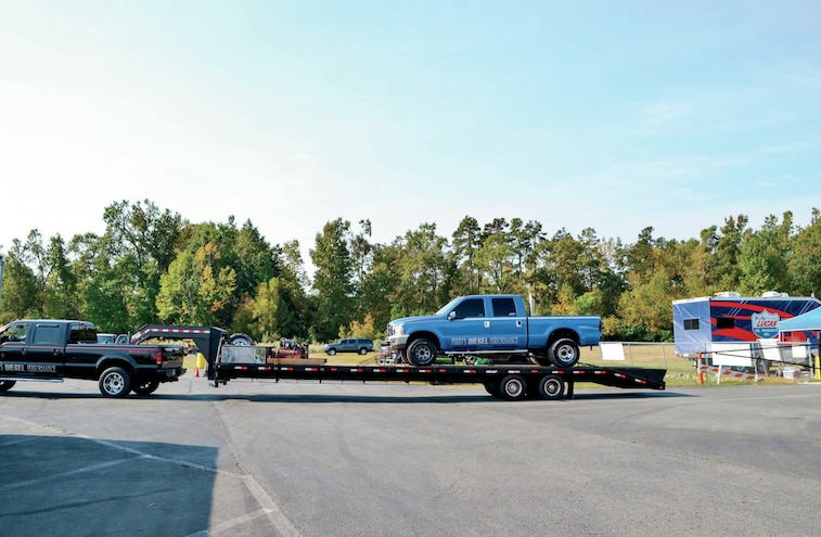 Truck Loaded Over Axles