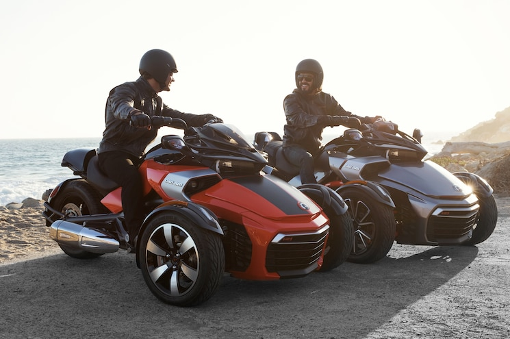 2015 Can Am Spyder F3 S Front Three Quarters View