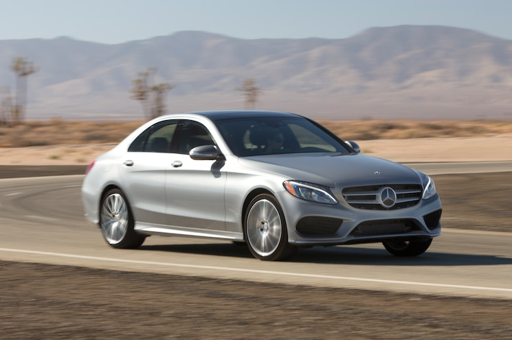 2015 Mercedes Benz C300 4Matic Front Three Quarter In Motion