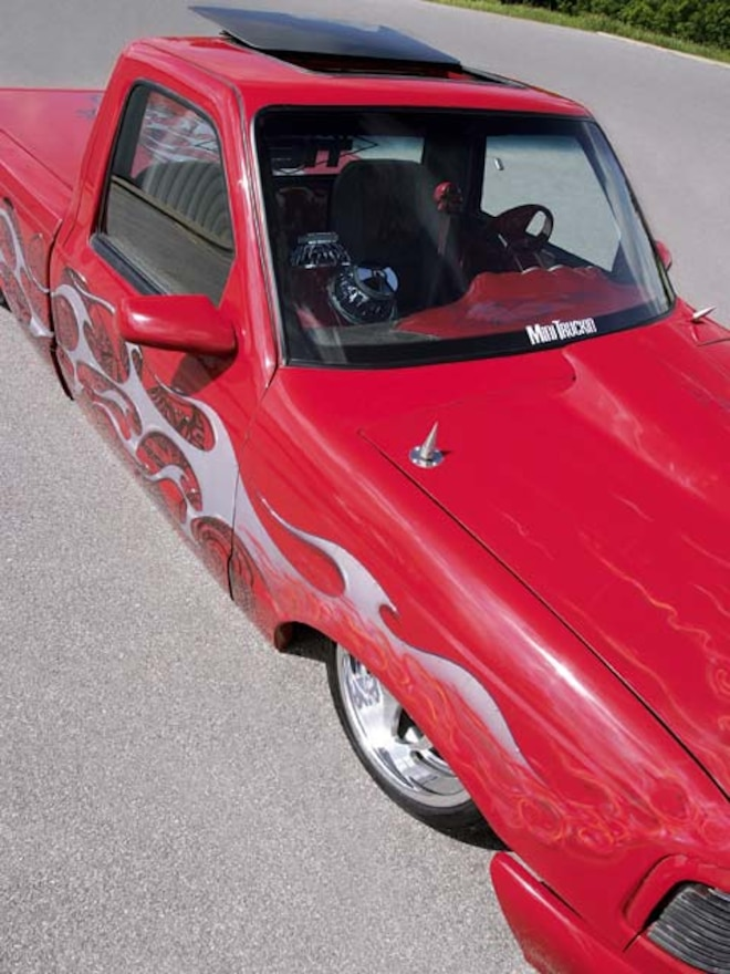 custom 1993 Ford Ranger front Passengers Side View