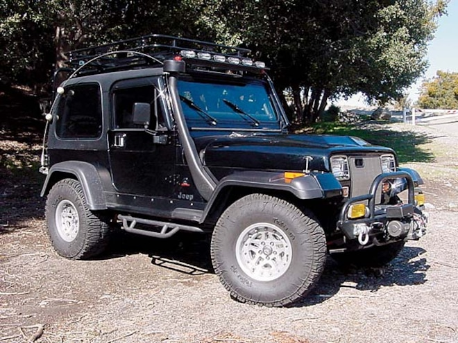 1993 Jeep Wrangler Diesel front Angle