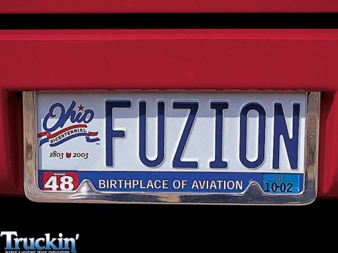 2000 Ford F150 license Plate View