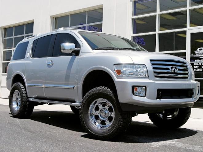 2004 infiniti qx56 lifted custom sport utility truckin magazine truck trend