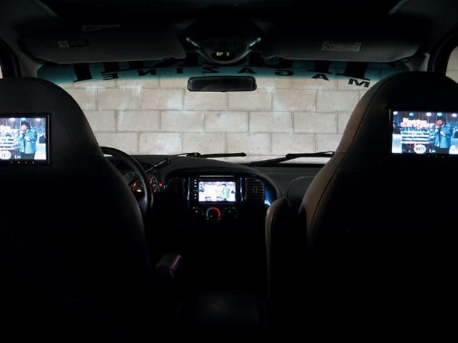 headrest Monitor Install interior