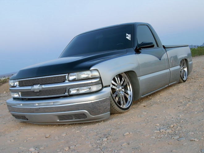 2002 Chevrolet Silverado Custom Lowered Truck Truckin Magazine