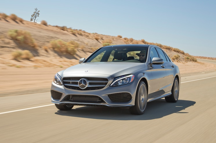 2015 Mercedes Benz C300 4Matic Front Three Quarters In Motion