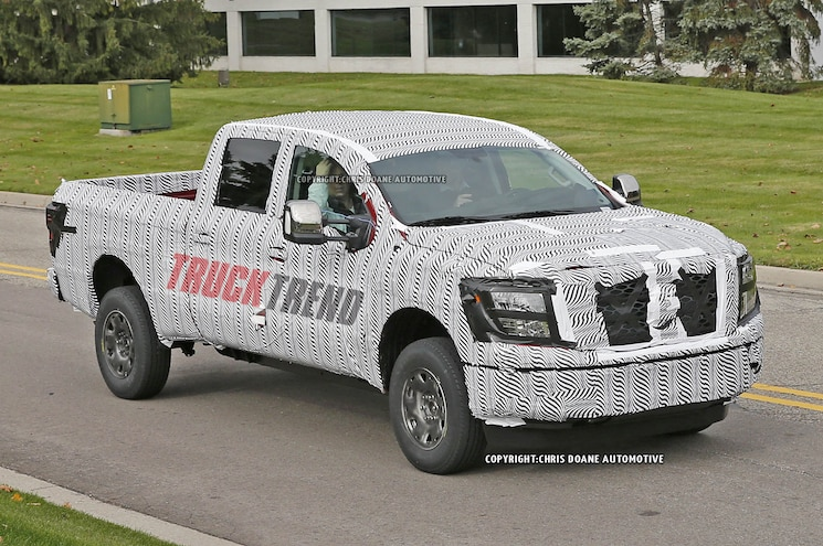 2016 Nissan Titan Spyshot Right Front Driving
