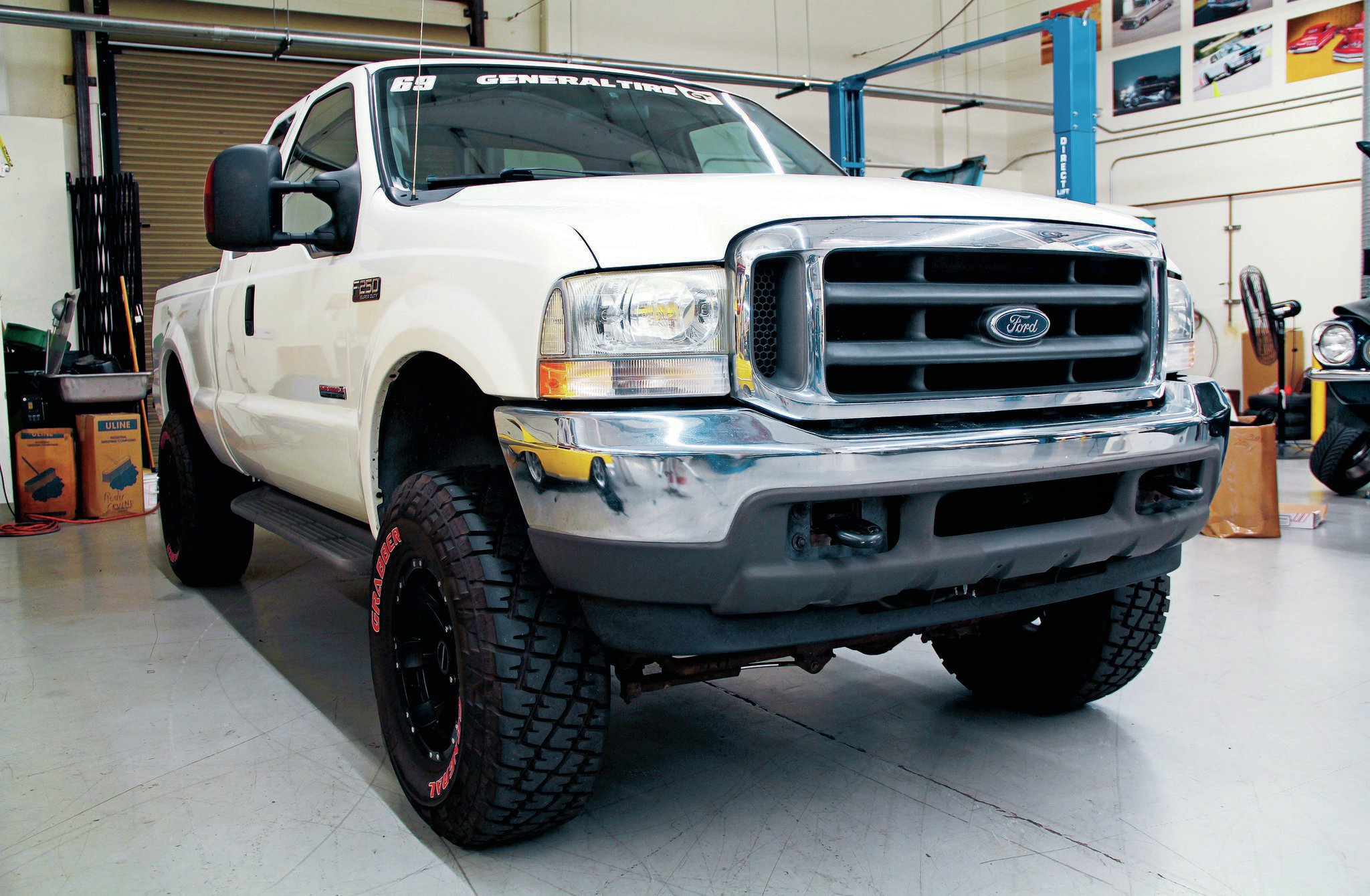 rbp custom truck grille recon halo headlight install on a 2004 ford f250 truck trend