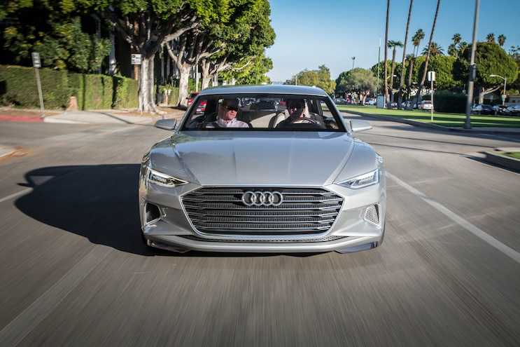 Audi Prologue Concept Front End In Motion 03
