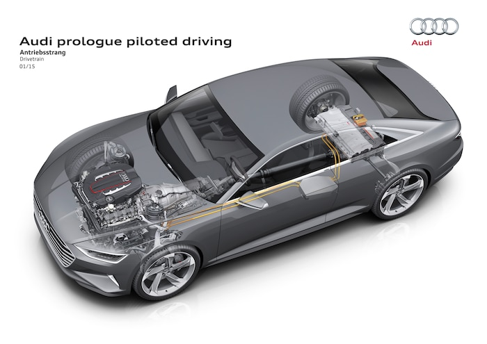 Audi Prologue Piloted Driving Concept Drivetrain