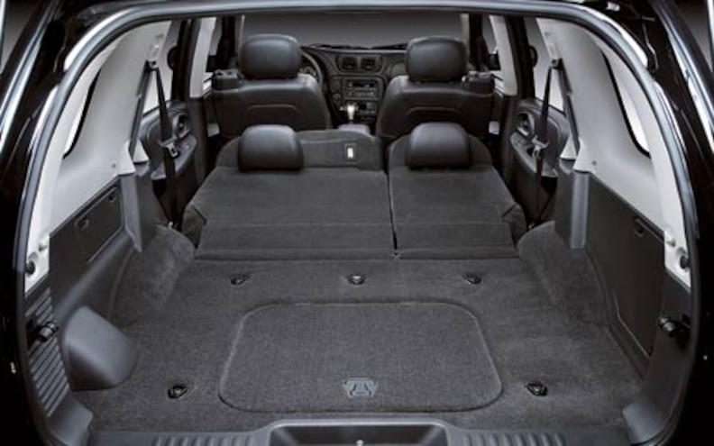 2006 Chevrolet TrailBlazer SS Interior View Trunk Space Seats Down
