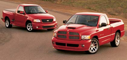 2004 Ford Lightning Dodge Ram Comparison Amp Road Test