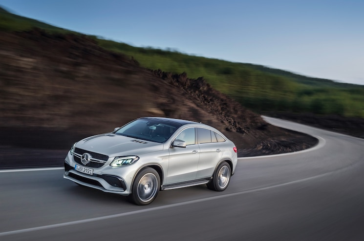 2016 Mercedes Benz GLE63 S AMG 4Matic Coupe Motion View Down Road