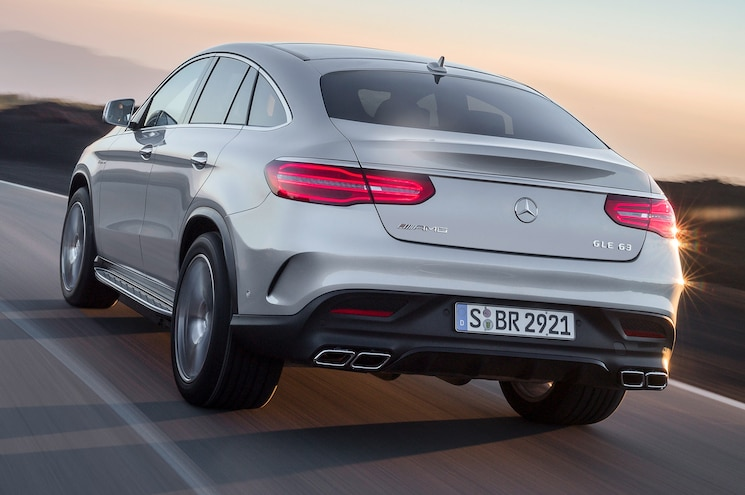 2016 Mercedes Benz GLE63 S AMG 4Matic Coupe Rear Side Motion View