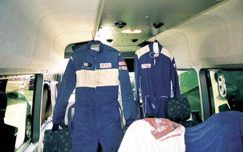 2004 Dodge Sprinter Interior View Uniforms Hanging Up