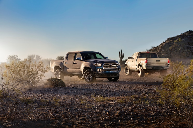 2016 Toyota Tacoma Two Trucks Wider View