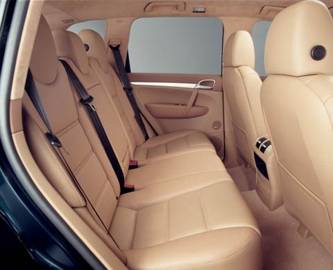 2003 Porsche Cayenne Turbo Suv interior Rear