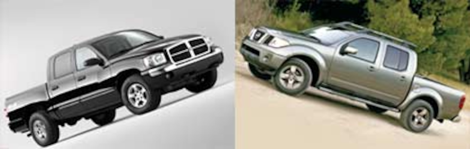 2005 Truck Comparisons: Road Test: 2005 Dodge Dakota and 2005 Nissan Frontier