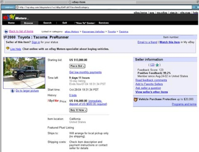 Auctioning On Ebay Motors How To Sell Motor Trend