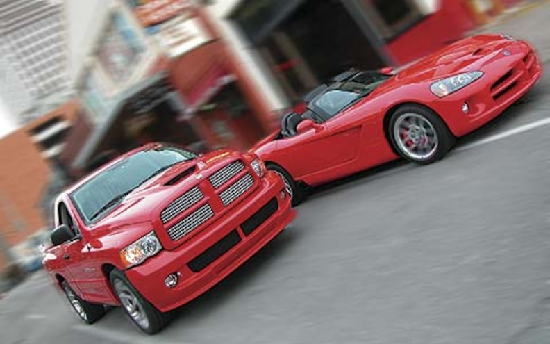 2005 Dodge Ram Srt 10 Pickup Viper Convertible front Right