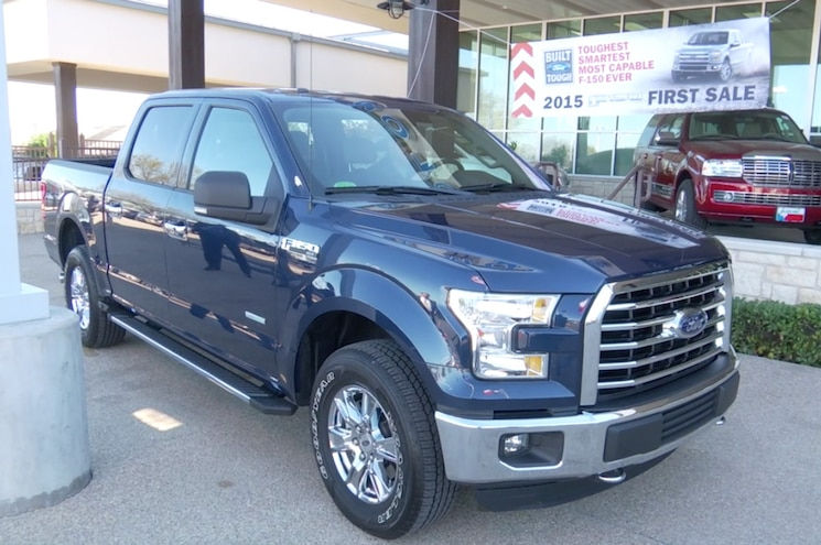 Texas Dealer Delivers First 2015 Ford F-150 to Retired Football Coach - Work Truck Review