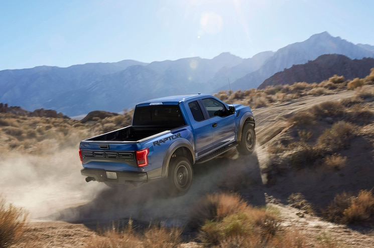 2017 Ford F150 Raptor Right Rear Offroad Driving