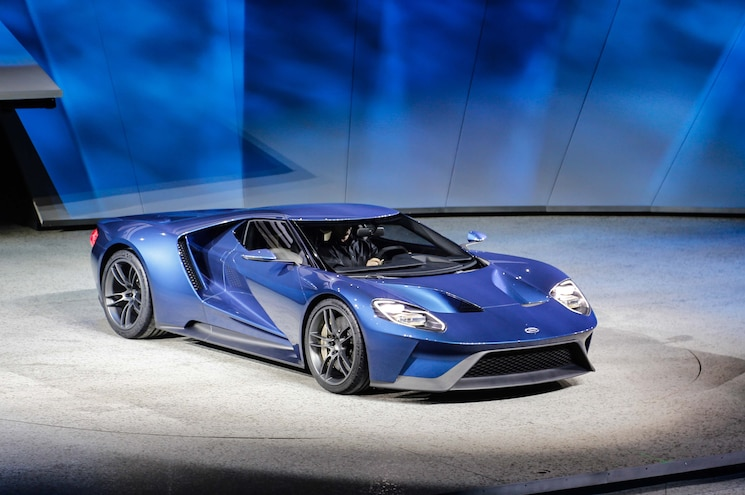 Ford GT At 2015 Detroit Auto Show Front Three Quarter