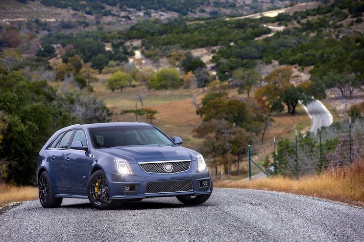 2014 Cadillac CTS V Wagon Front Three Quarter