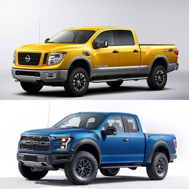 Detroit Duel: 2016 Nissan Titan XD vs. 2017 Ford F-150 Raptor