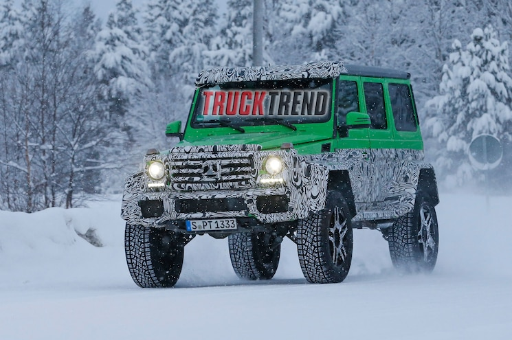 Caught! 2017 Mercedes-Benz G63 AMG with Portal Axles!
