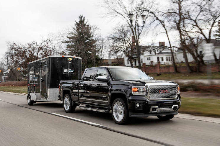 2014 GMC Sierra Denali 1500 Crew Cab Front Three Quarter In Motion