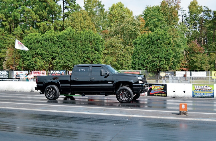 2007 Chevy Silverado On Drag Strip