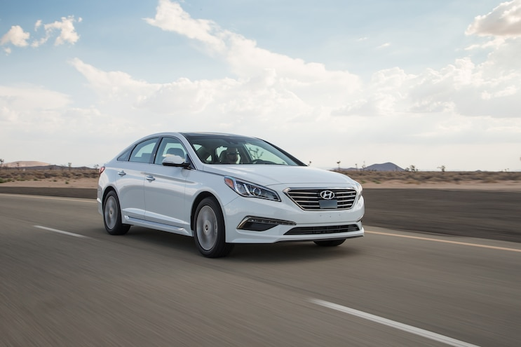 2015 Hyundai Sonata Limited Front Three Quarter In Motion