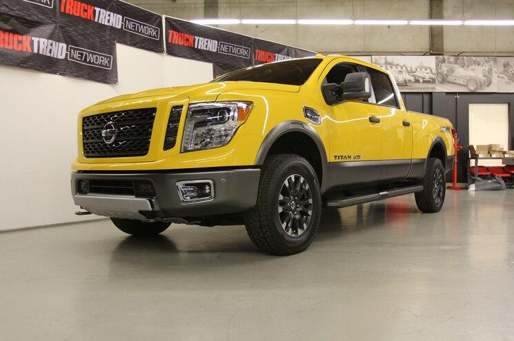 2016 Nissan Titan XD Front Three Quarter Low