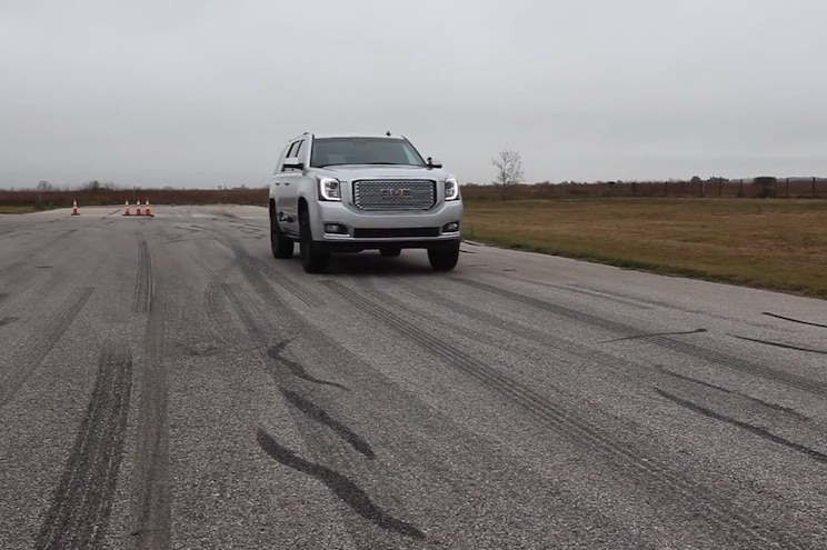 Watch the Hennessey GMC Yukon Denali Sprint to 60 Faster Than Most Sports Cars - Video