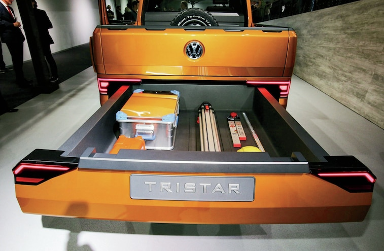Vw Tristar Tdi Concept Truck Slide Out Storage Compartment