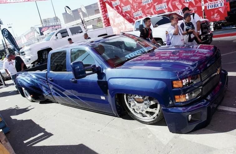 Blue Chevrolet Truck