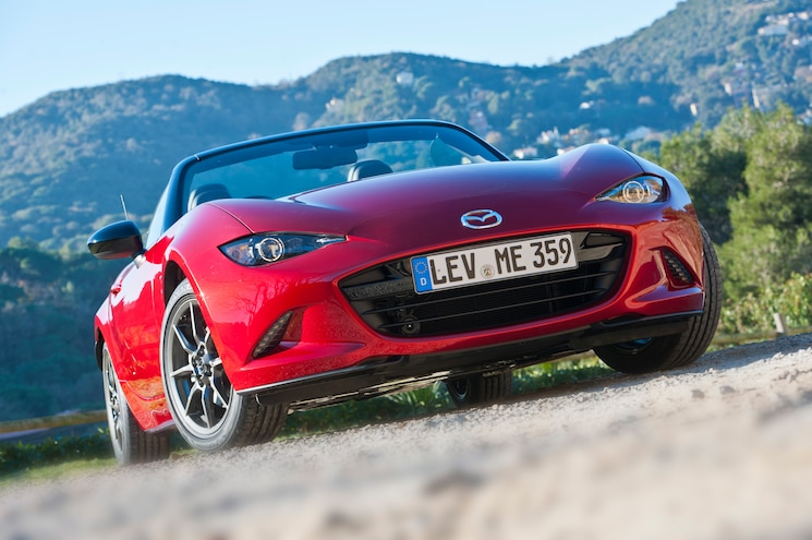 2016 Mazda MX 5 Miata Right Hand Drive Front View Looking Up