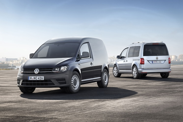 2016 Volkswagen Caddy Cargo Vans Front Rear