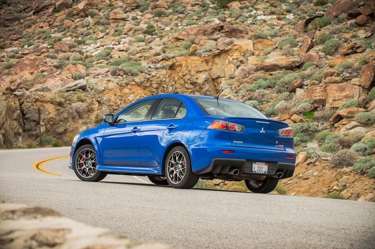 2015 Mitsubishi Lancer Evolution MR Rear Three Quarter