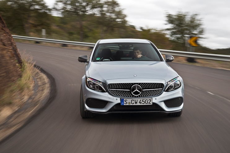 2016 Mercedes Benz C450 AMG 4Matic Front End In Motion 02