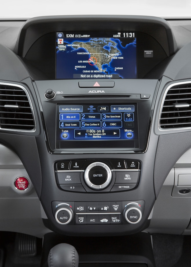 2016 Acura RDX Center Stack