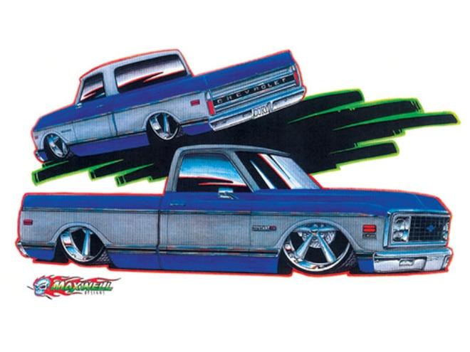 1971 Chevrolet C10 artist Rendering