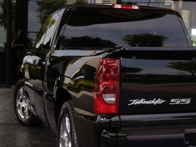 2006 Chevrolet Silverado Intimidator SS Rear Driver Side View